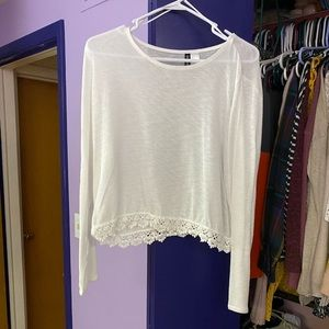 Lightweight Sweater with Lace detail